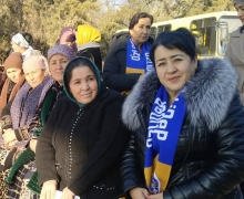 Candidate for deputy P. Akhmedjanova meets with voters