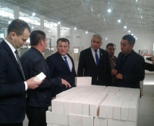 UzLiDeP head got acquainted with the activities of Surkhon Ceramics