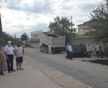 The street was paved with the assistance of UzLiDeP deputy