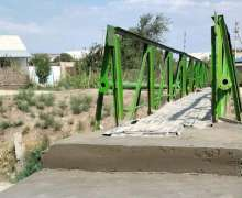 The old bridge repaired with the assistance of UzLiDeP deputy
